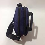 Сумка мужская спортивная через плечо / синяя, фото 6