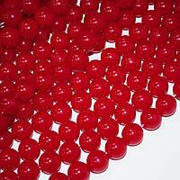Намистини на нитці акрил 14мм червоні (40114.001)