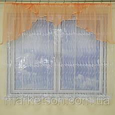 Тюль з ламбрекеном Світлана на карниз 1.5-2м, фото 2