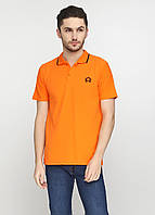Оранжевая футболка-поло для мужчин West Wint с логотипом