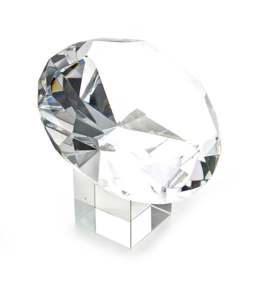 """Кристалл хрустальный на подставке """"Бриллиант"""" (10 см)"""