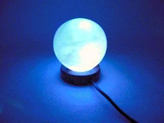 "Соляна лампа USB ""Куля"" (S-02)(10х8х8 см)(12 шт ящ.)(Гімалайська сіль)"