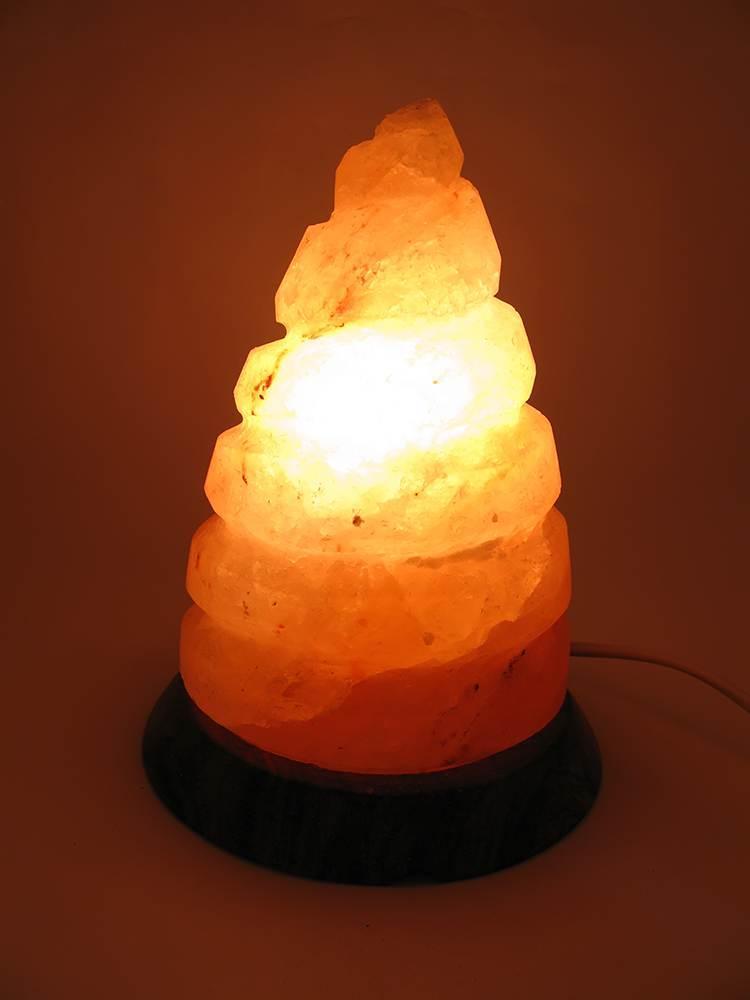 """Соляная лампа """"Спираль""""  (SL-29)(17,5х14х14 см)(8 шт ящ.)(Гималайская соль)"""