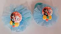 Детские резинки для волос 2 шт голубые
