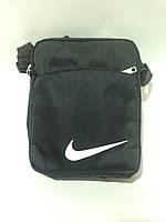 Сумка мужская спортивная через плечо в стиле Nike / черная, фото 1