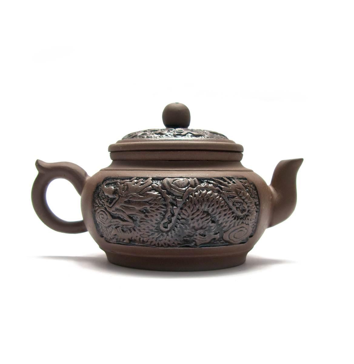 """Чайник глина с ситом """"Дракон"""" (300 мл)(10.5х17х10,5 см)"""