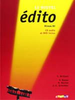 Edito Le Nouvel B2 Livre eleve + DVD + CD audio