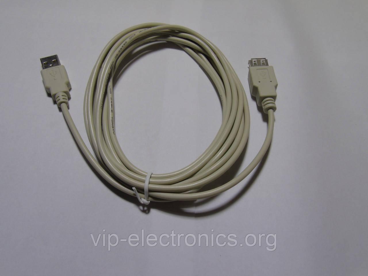 Подовжувач USB шт А-гн А 3m сірий