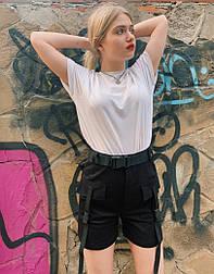 Женский шорты карго VIdlik черные Турция. Фото в живую