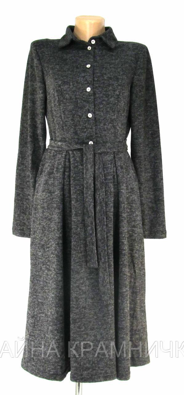 Сукня жіноча гудзики, відрізне по талії з паском рр.44-52