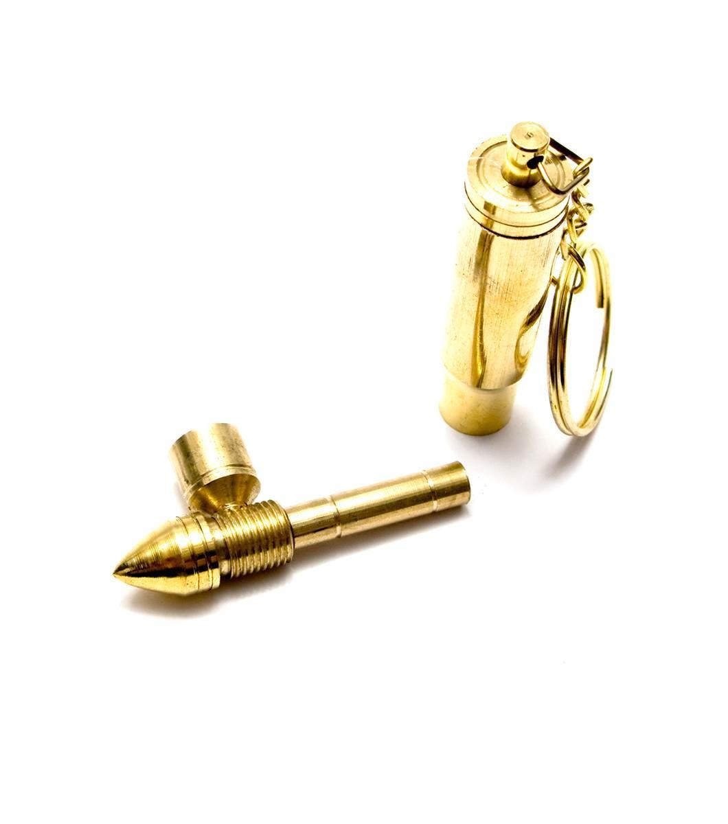 """Трубка курительная бронзовая """"Пуля"""" (7х1.5х1.5 см)"""