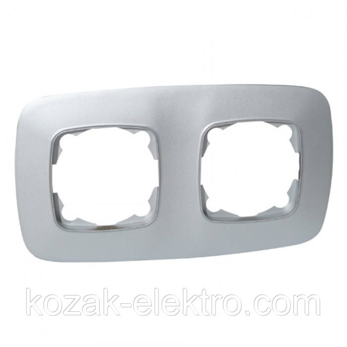 Рамка двойная серия ELA цвет серебро