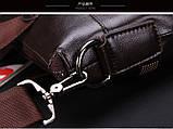 Мужская сумка-портфель Polo под формат А4. Черная   КС32-1, фото 10