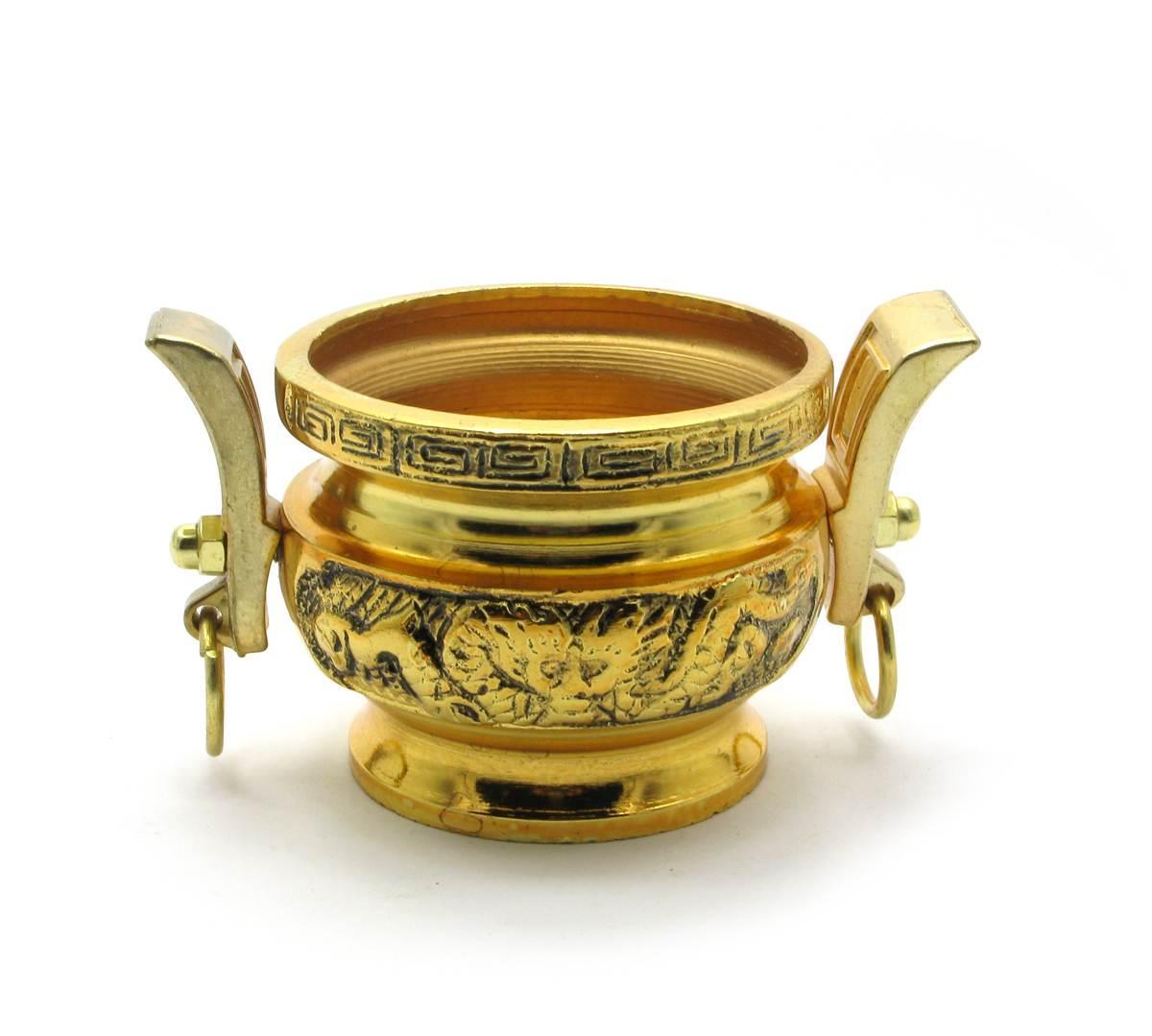 "Чаша металл ""Драконы"" (6х12х7,5 см)"