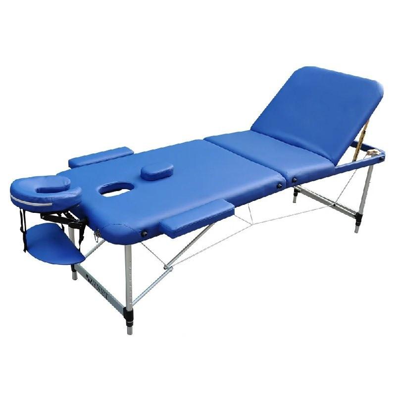 Массажный стол мобильный ZENET ZET-1049 NAVY BLUE размер L (195*70*61)