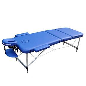 Массажный стол мобильный ZENET ZET-1049 NAVY BLUE размер L (195*70*61), фото 2