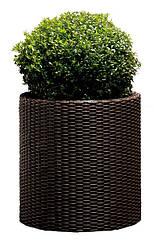 Горщик для квітів 39 л. Cylinder Planter Large, коричневий