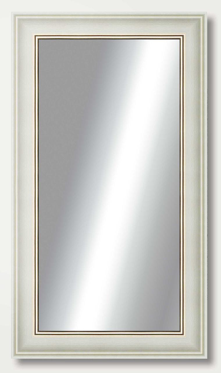Зеркало настенное в раме Factura White prince 35.5х68 см белое
