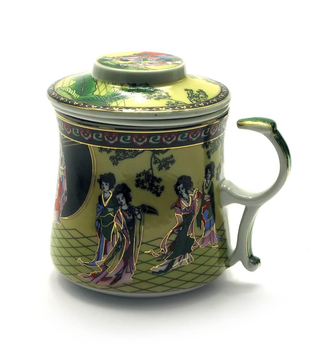 "Чашка заварочная с ситом (300мл.)(BN125-5) ""Сакура""(h-9cм, d-8см)"