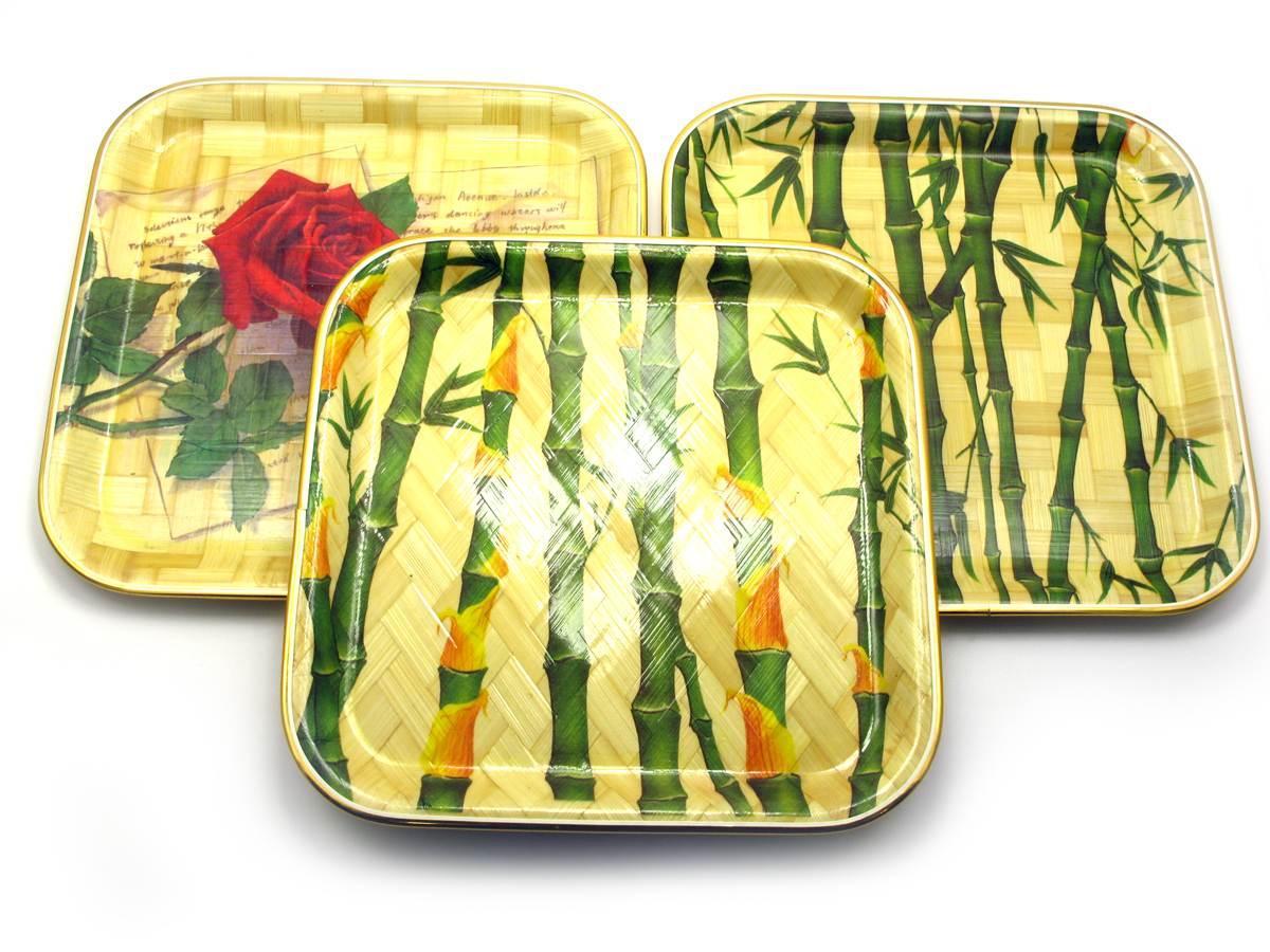 Тарелка бамбуковая квадратная (25х25 см)