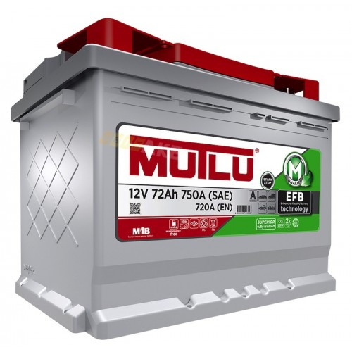 MUTLU 6СТ-72 АзЕ EFB.L3.72.072.A Автомобильный аккумулятор