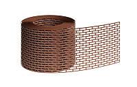 Лента вентиляционного свеса коричневая 80мм х5000мм
