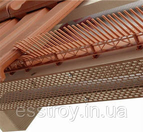 Лента вентиляционного свеса коричневая 80мм х5000мм, фото 2