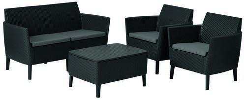 Набор мебели Salemo set графит - прохладный серый