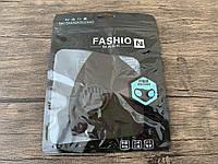 Многоразовая защитная маска питта черная с черным клапаном унисекс