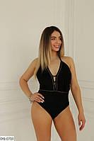 Купальник женский цельный сдельный купальник черный размер: 48-52, 54-58