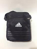 Сумка мужская спортивная через плечо в стиле Adidas / черная, фото 1