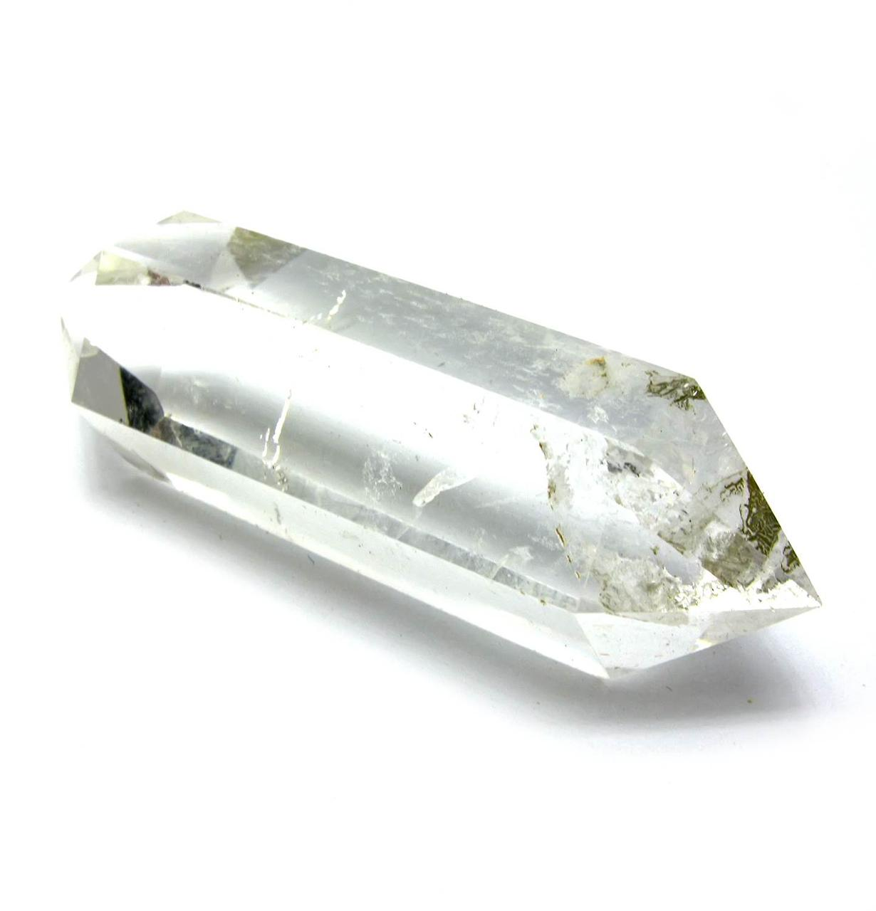Двухголовый кристалл горного хрусталя (+-7х1 см)