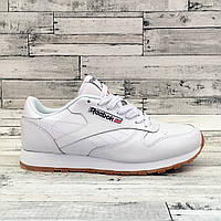 Reebok Classic Leather White Gum | кроссовки мужские и женские; белые; кожаные; осенние/весенние; классика 43eur-27.5cm