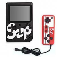 Игровая консоль ретро приставка с дополнительным джойстиком dendy SEGA 400 игр 8 Bit SUP Game черный
