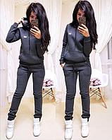 Женский теплый спортивный костюм с капюшоном на флисе S/M/L/XL