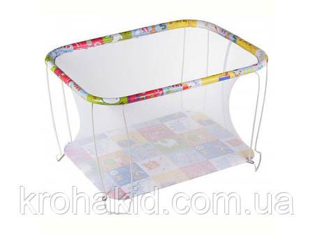 """Детский классический игровой манеж с мелкой сеткой KinderBox """"Животные""""  - игровой центр для детей, фото 2"""