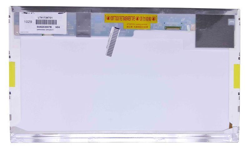 "Матрица для ноутбука 17,3"", Normal (стандарт), 40 pin (снизу слева), 1600x900, Светодиодная (LED), без креплений, глянцевая, Samsung, LTN173KT01"