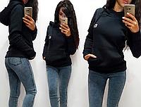 Женская толстовка на флисе с капюшоном S/M/L/XL