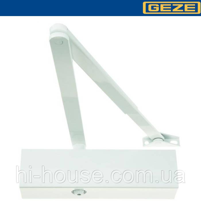 Доводчик GEZE TS 2000 V BC білий (колінна тяга)