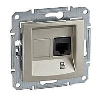 Розетка компьютерная UTP КАТ. 5Е Schneider Electric Sedna титан (SDN4300168)
