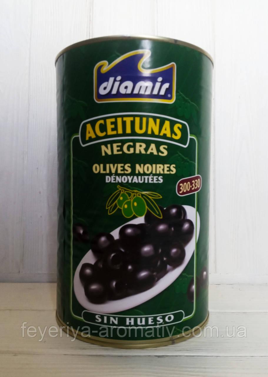 Оливки черные без косточки калибр 300/330 Diamir 4,1кг/2кг (Испания)