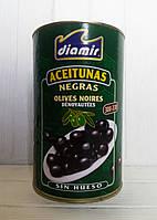 Оливки черные без косточки калибр 300/330 Diamir 4,1кг/2кг (Испания), фото 1