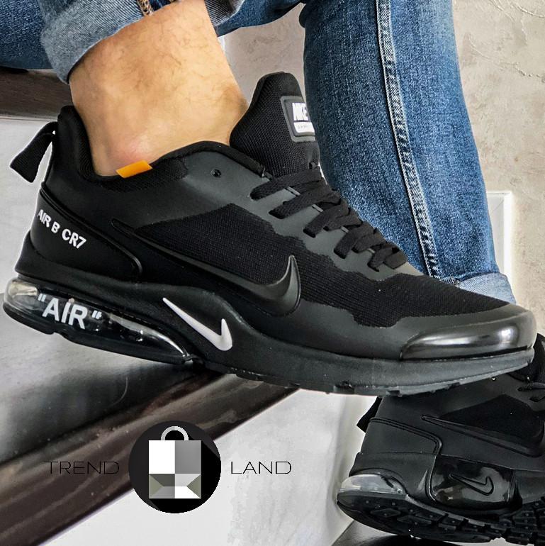"""Мужские кроссовки в стиле Nike Air Presto """"AIR"""" B CR7 Full Black Черные"""