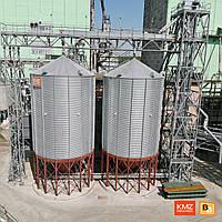 Силосы металлические для зерна с конусным дном