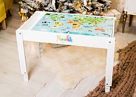 Детский световой стол-песочница Noofik МДФ Стандарт Белый (sts001mdf)