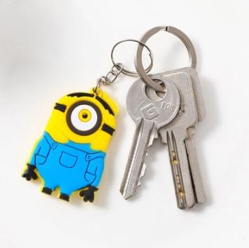 Силиконовый брелок для ключей Миньон Стюарт (желтый)