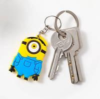 Силиконовый брелок для ключей Миньон Стюарт (желтый), фото 1