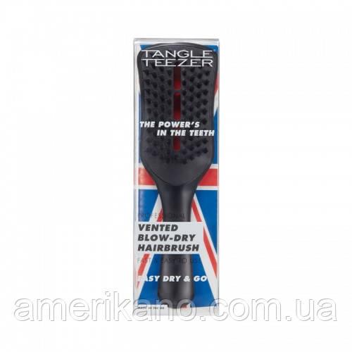 Расческа для волос Tangle Teezer Ease dry & go с ручкой Оригинал. Черная.