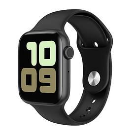 Розумні годинник IWO 11 з бездротовою зарядкою Чорний (swiwo11bl)