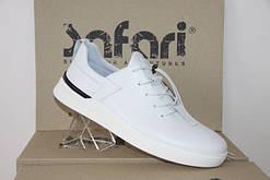 Мужские спортивные туфли-мокасины Safari 90 белые